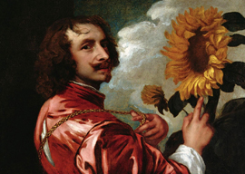 Self-portrait with a sunflower, Anthony van Dyck