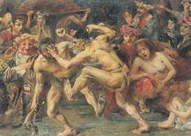 Odysseus im Kampf mit dem Bettler by Lovis Corinth