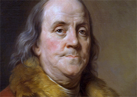 Joseph-Siffred Duplessis portrait of Benjamin Franklin