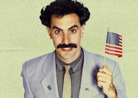 Borat aka Sacha Baron Cohen