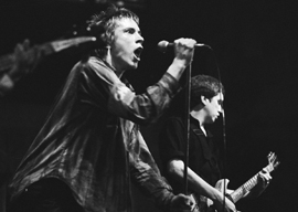 Johnny Rotten and Steve Jones