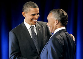 President Barack Obama and Rev. Al Sharpton