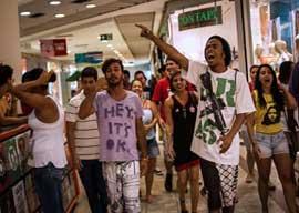 Barbarians at the Mall Entrance