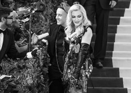 Jeremy Scott and Madonna at the Met Gala