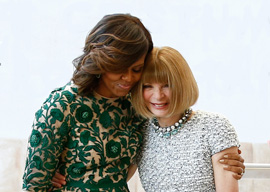Michelle Obama and Anna Wintour
