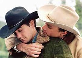 Jake Gyllenhaal and Heath Leger in Brokeback Mountain