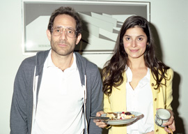 Dov Charney with co-worker Eliana Rodriguez