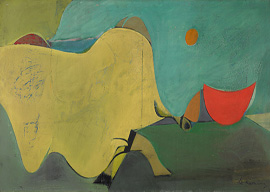 Untitled (The Cow Jumps Over the Moon), 1937–38 by Willem de Kooning
