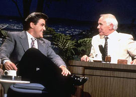 Jay Leno and Johnny Carson