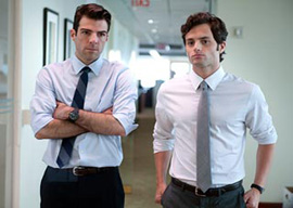 Zachary Quinto and Penn Badgley