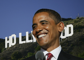 Obama's Shiny Hollywood Bubble