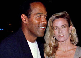 OJ and Nicole Simpson