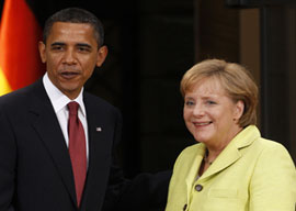 President Barack Obama and Chancellor Angela Merkel