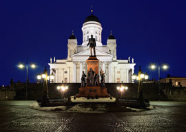 Helsinki Cathedral and monument to Alexander II, Finland