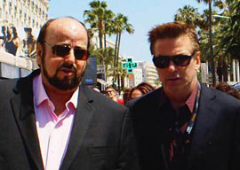 James Toback and Alec Baldwin in Cannes