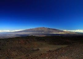 Mauna Kea from Mauna Loa Observatory, Hawaii