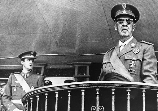 King Juan Carlos I and Francisco Franco