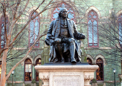 Ben Franklin, College Hall, Penn