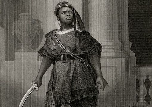 Ira Aldridge as Aaron the Moor, 1852