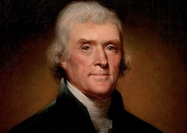 Official Presidential portrait of Thomas Jefferson by Rembrandt Peale, 1800