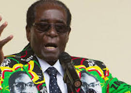 Robert Mugabe in his Robert Mugabe jacket
