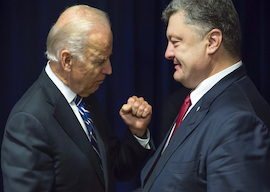 US Vice President Joe Biden and President of Ukraine Petro Poroshenko