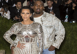 Kim Kardashian and Kanye West, 2016