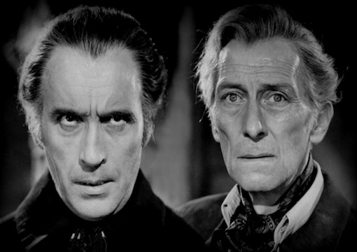 Peter Cushing and Christopher Lee