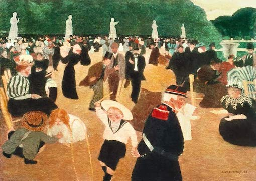 The Luxembourg Gardens, Felix Vallotton
